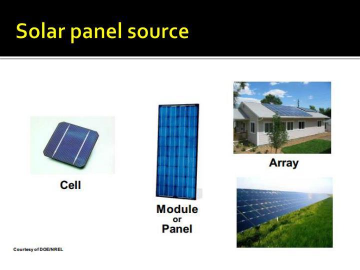 Solar panel source