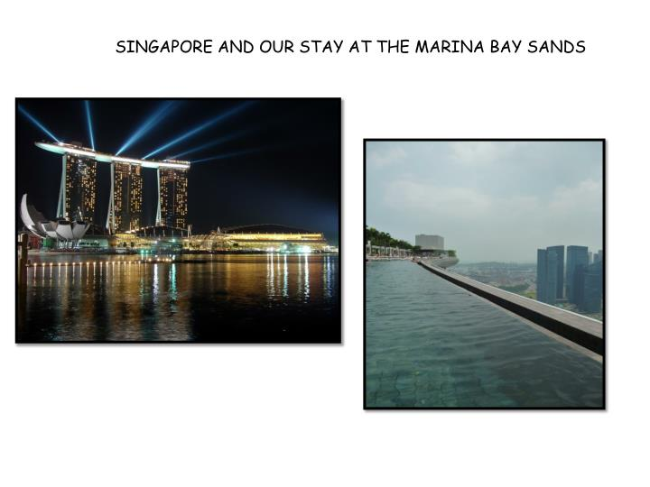 SINGAPORE AND OUR STAY AT THE MARINA BAY SANDS
