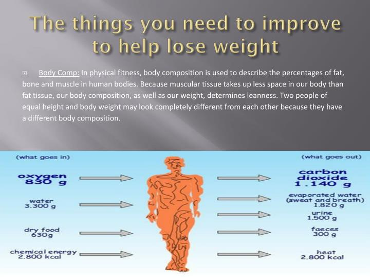 The things you need to improve to help lose weight