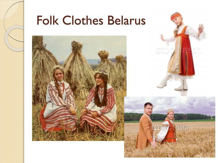 Folk Clothes Belarus