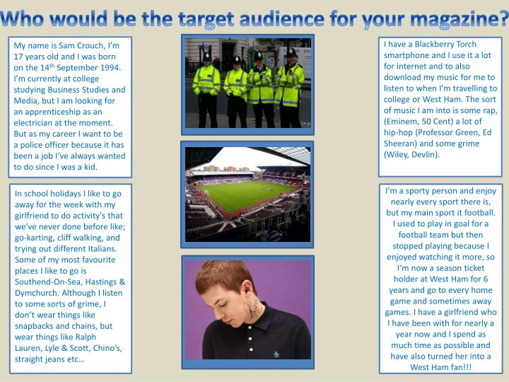 Who would be the target audience for your magazine?