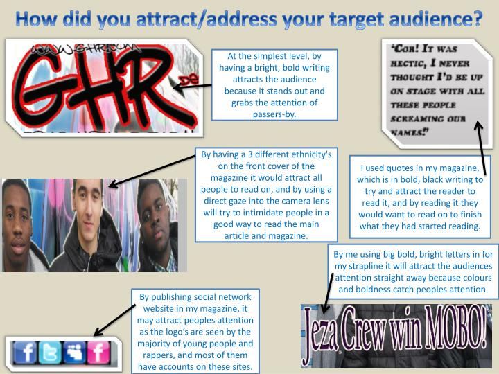 How did you attract/address your target audience?
