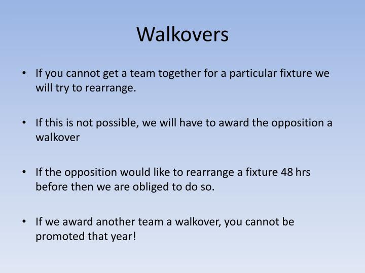 Walkovers