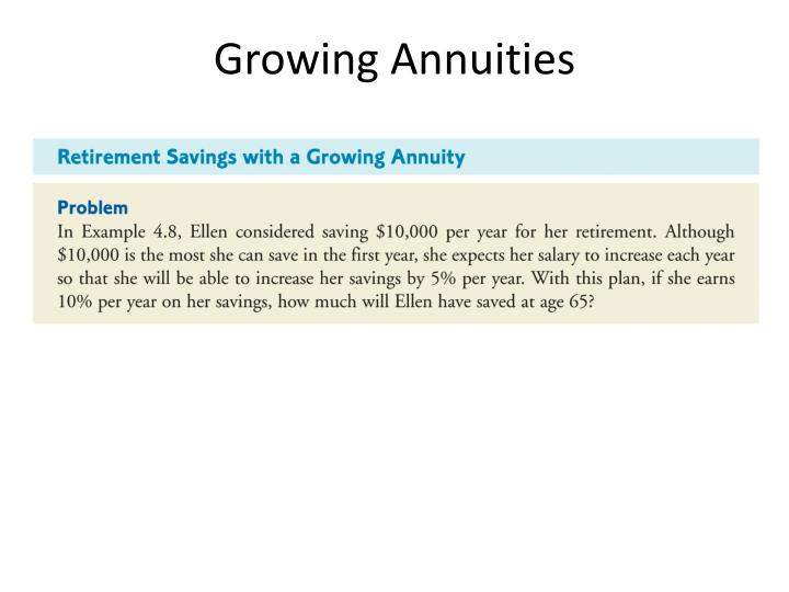 Growing Annuities