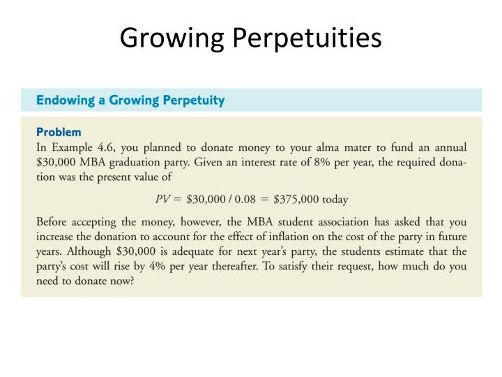 Growing Perpetuities