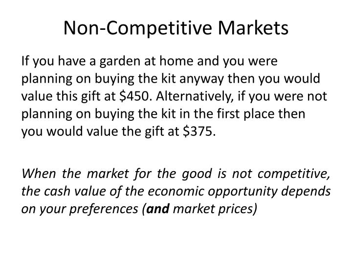 Non-Competitive Markets