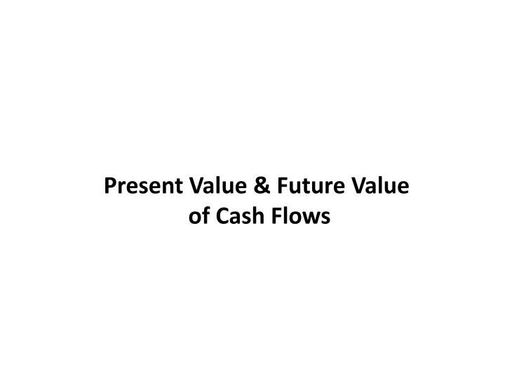 Present Value & Future Value