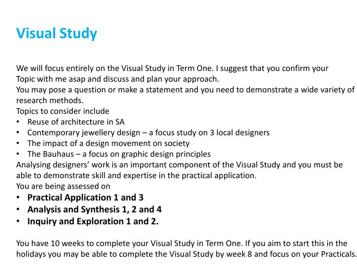Visual Study
