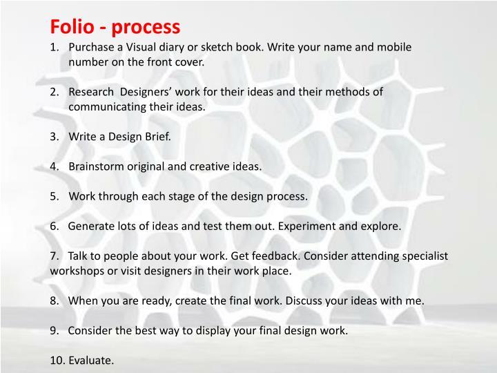 Folio - process