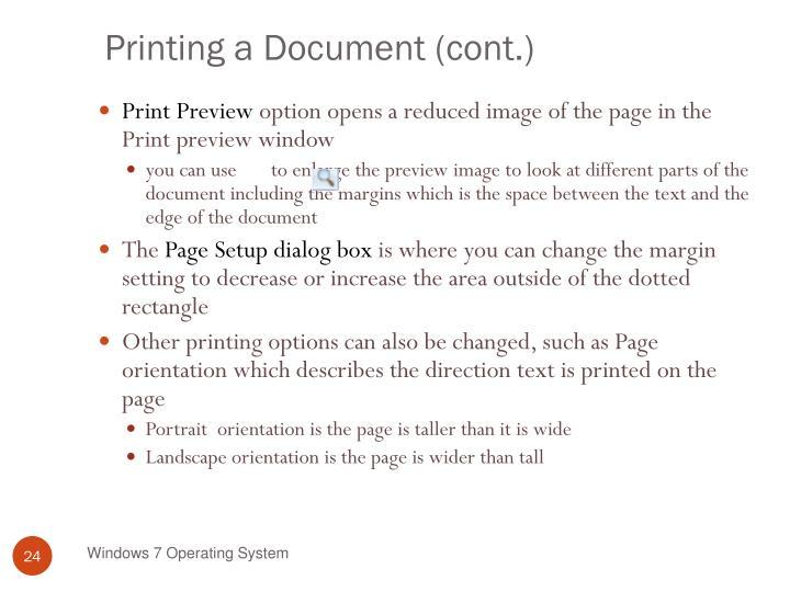 Printing a