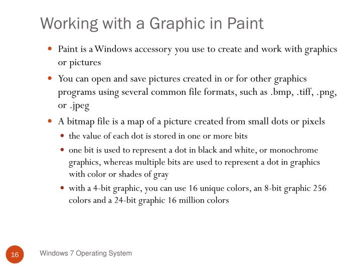 Working with a Graphic in Paint