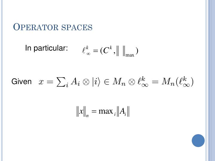 Operator spaces