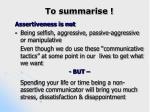 to summarise
