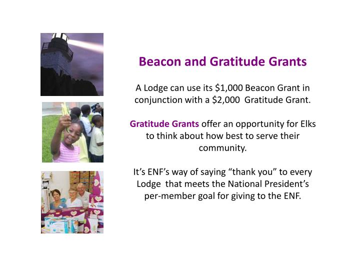 Beacon and Gratitude Grants