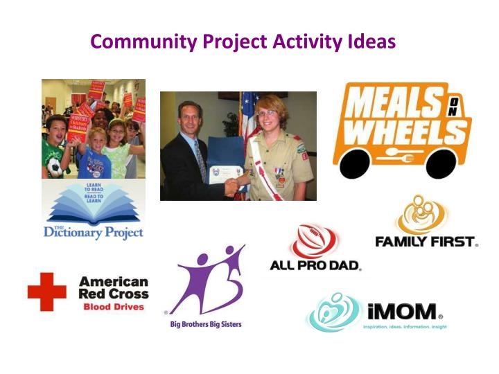 Community Project Activity Ideas