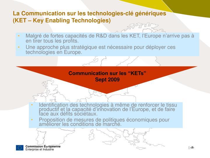 """Communication sur les """"KETs"""""""