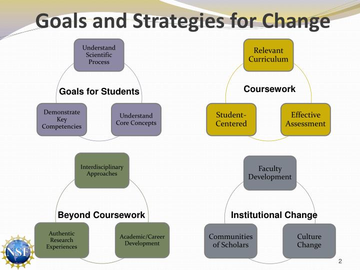 Goals and strategies for change