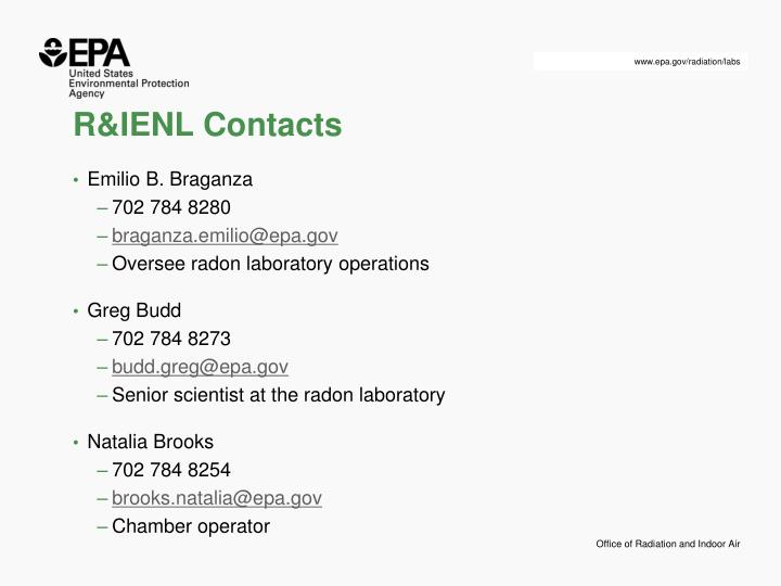R&IENL Contacts