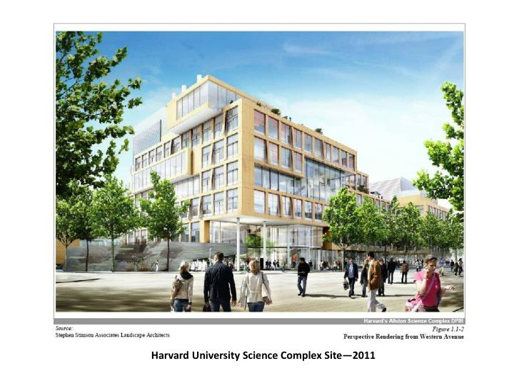 Harvard University Science Complex Site—2011