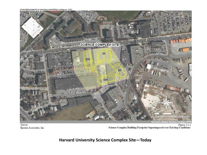 Harvard University Science Complex Site—Today