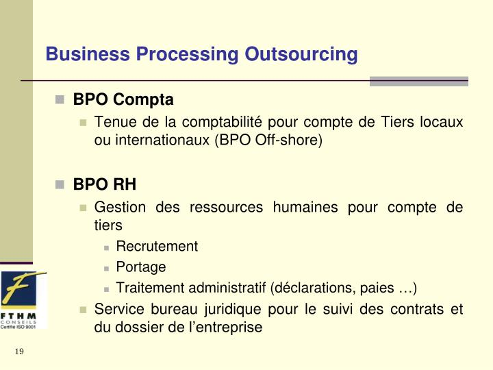 Business Processing Outsourcing