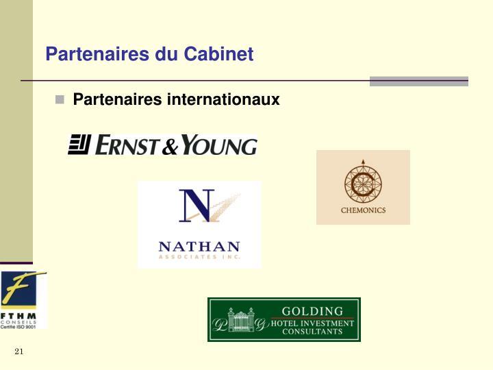 Partenaires du Cabinet