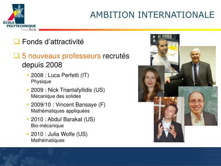 Fonds d'attractivité