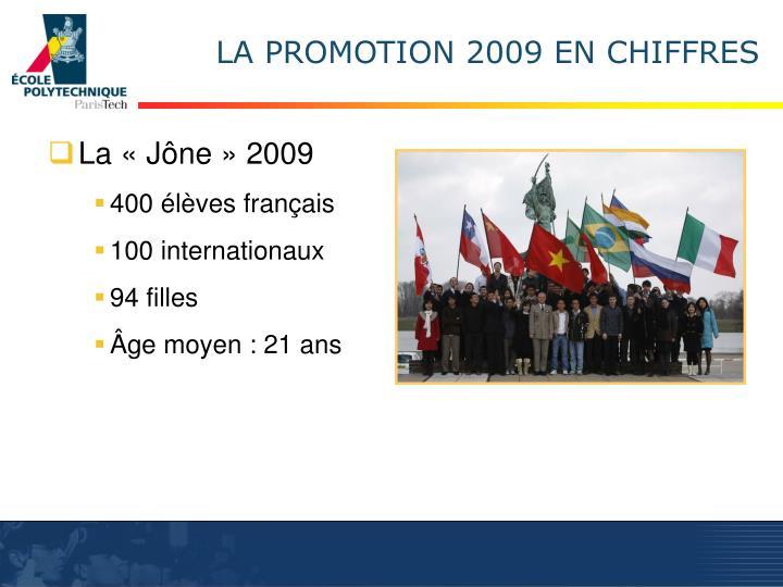 LA PROMOTION 2009 EN CHIFFRES