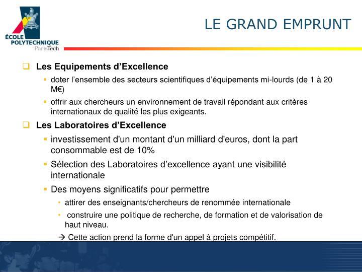 LE GRAND EMPRUNT