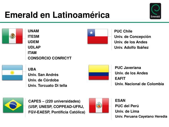 Emerald en Latinoamérica