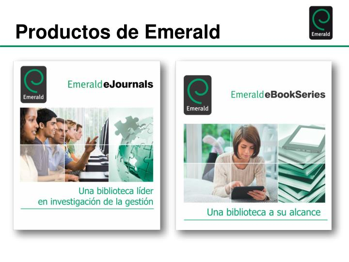 Productos de Emerald