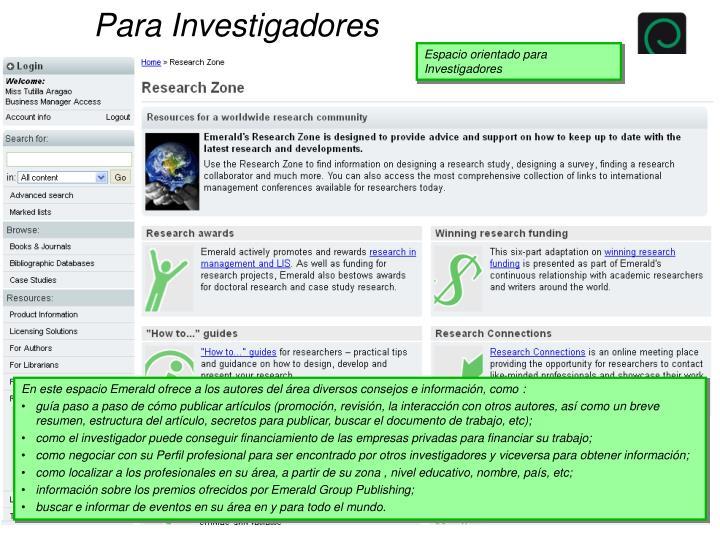 Para Investigadores