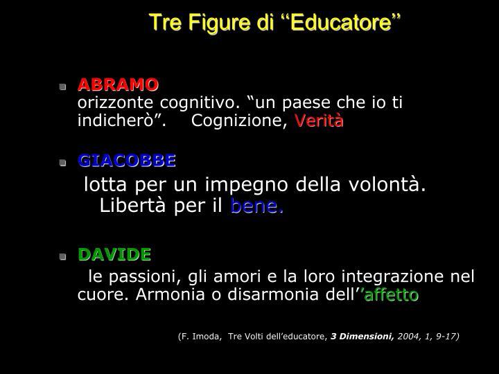 Tre Figure di ''Educatore''