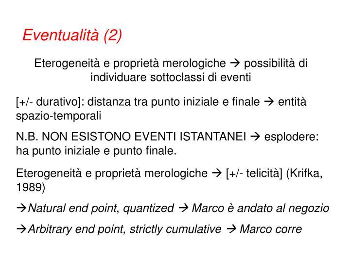 Eventualità (2)