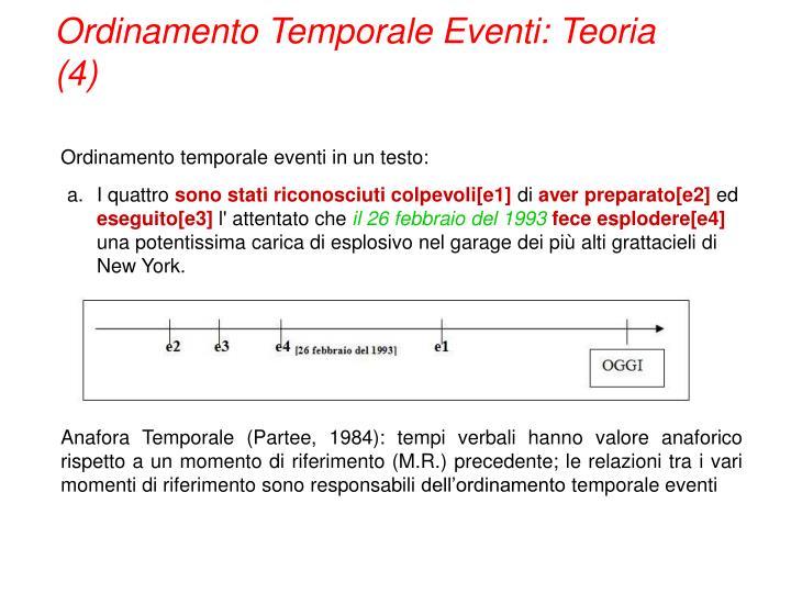 Ordinamento Temporale Eventi: Teoria (4)