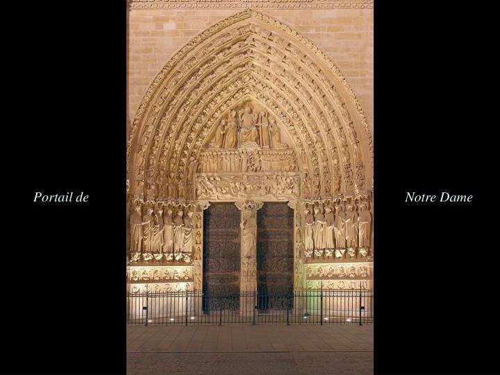 Portail de                                                                                           Notre Dame