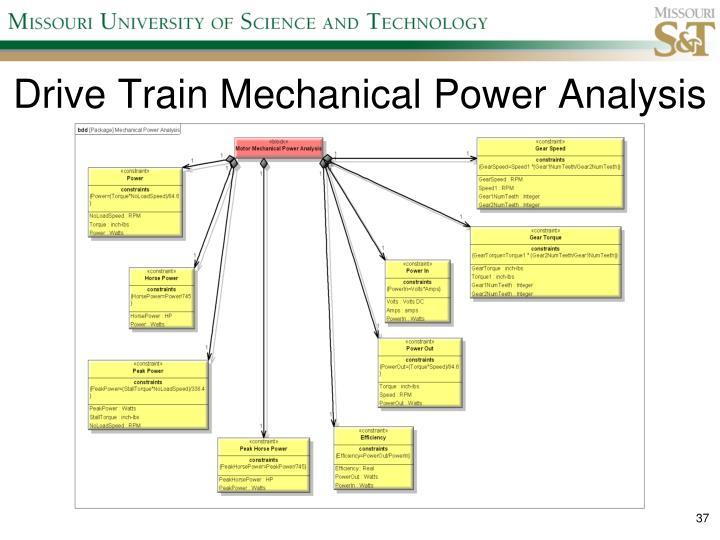 Drive Train Mechanical Power Analysis