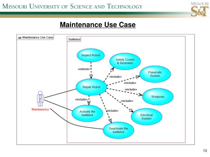Maintenance Use Case