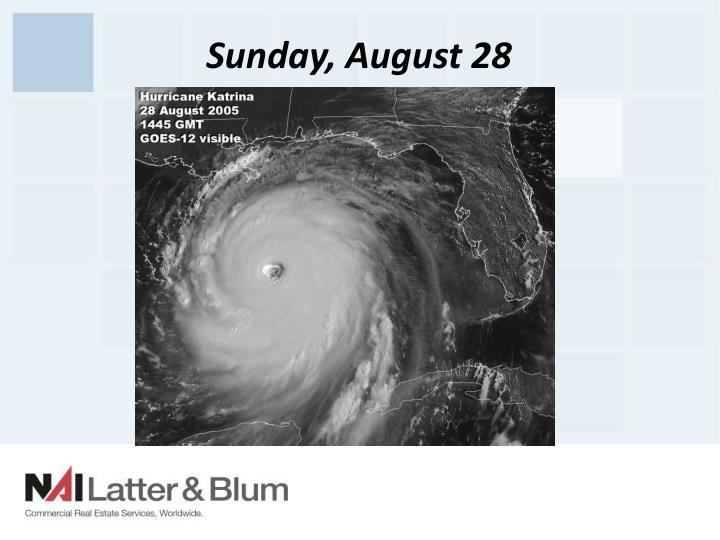 Sunday, August 28