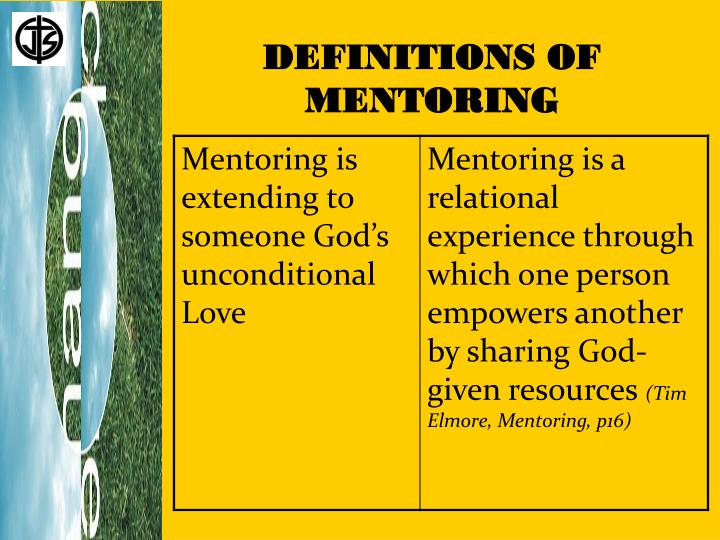 DEFINITIONS OF MENTORING