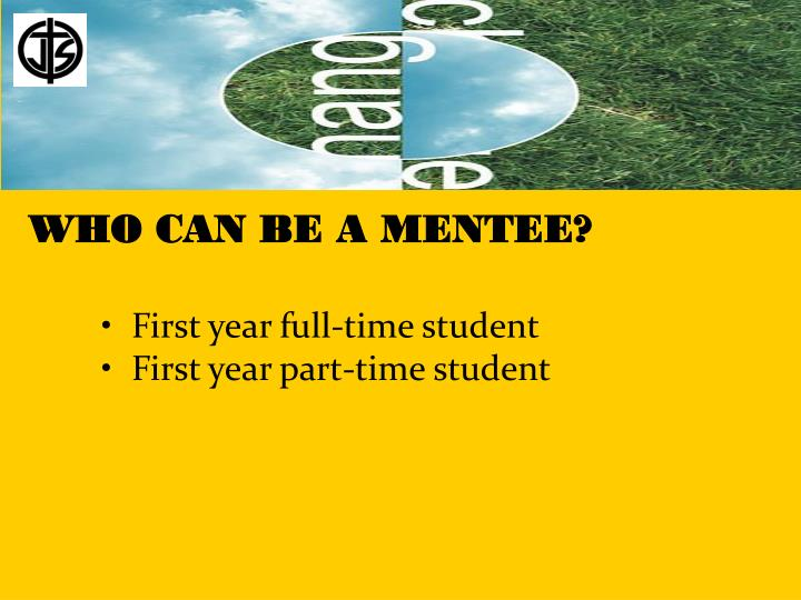 WHO CAN BE A MENTEE?
