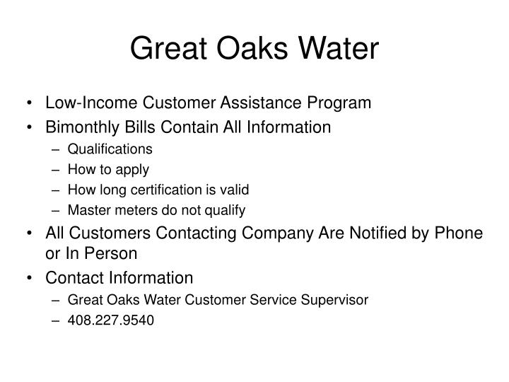 Great Oaks Water