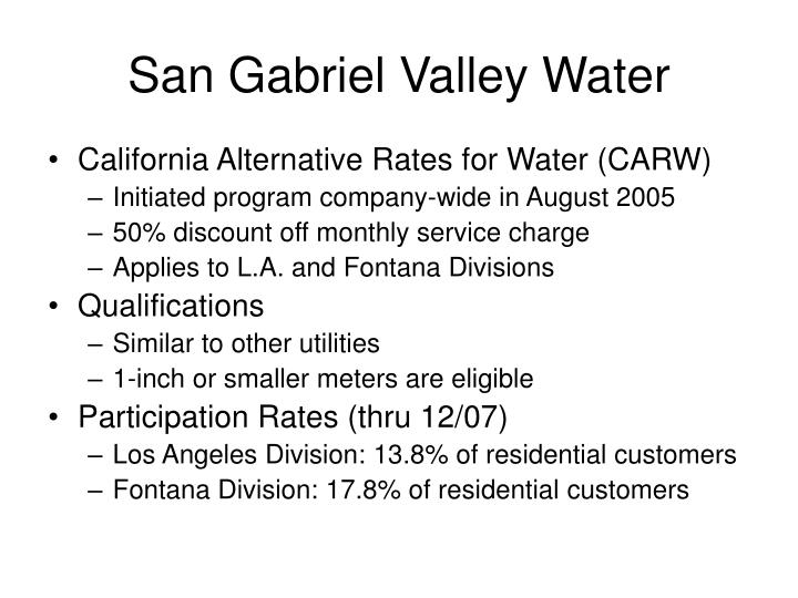San Gabriel Valley Water