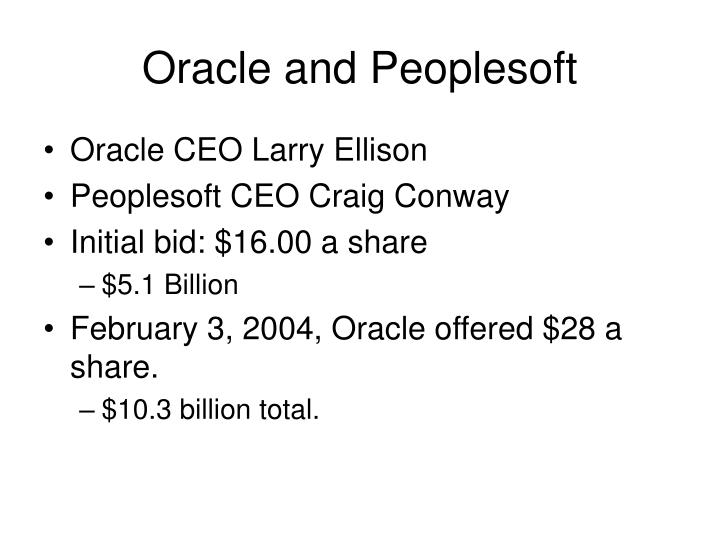 Oracle and Peoplesoft