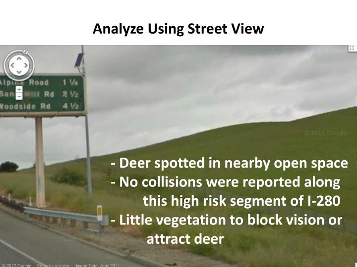 Analyze Using Street View
