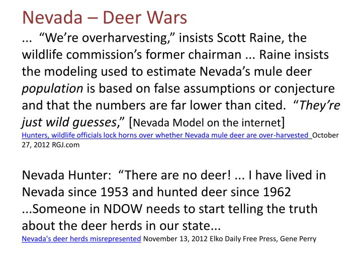 Nevada – Deer Wars
