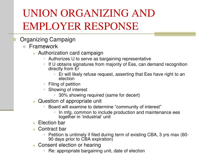 Unions Demand for Recognition and Bargaining Rights