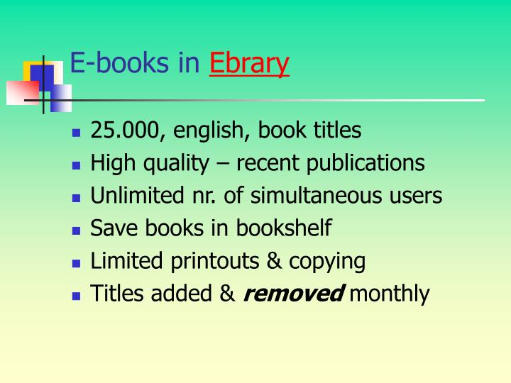 E-books in