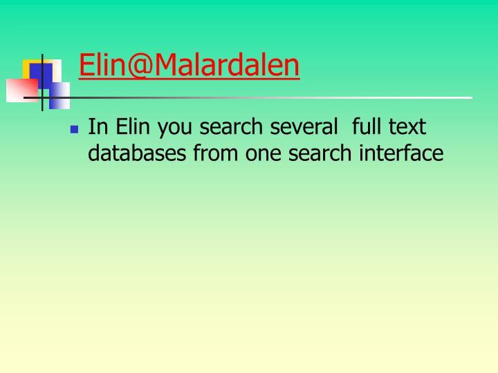Elin@Malardalen
