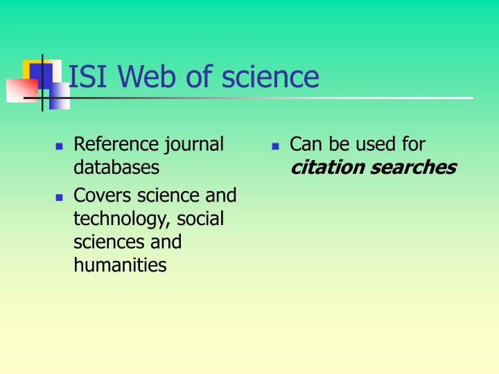 Reference journal databases